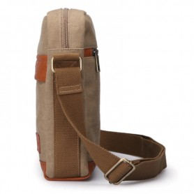 Canvas shoulder bags grey for men