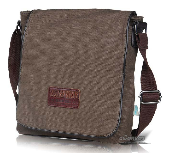 Mens fashion organizer satchel bag khaki, coffee, black - E-CanvasBags