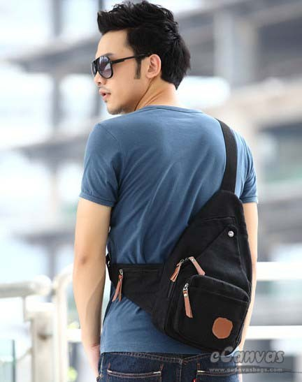 Canvas Sporty Sling Backpack Khaki Black E Canvasbags