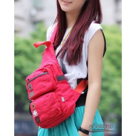 Messenger sling bag red for womens