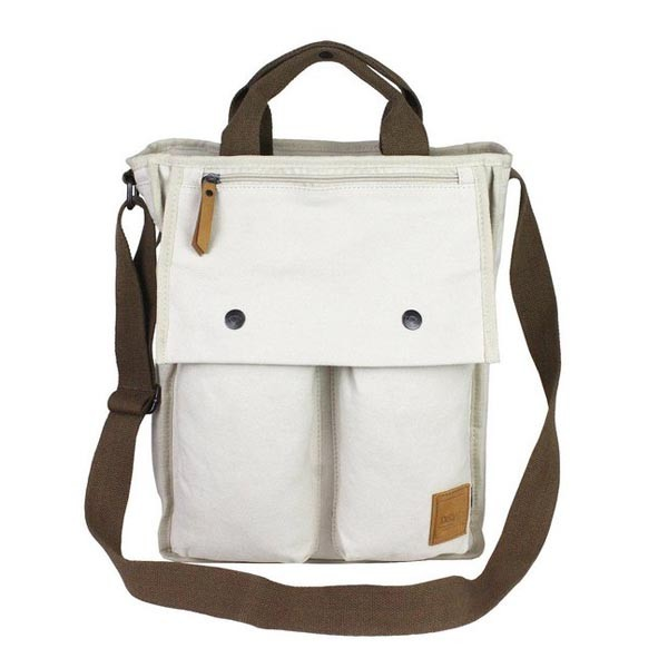 White Canvas Shoulder Bag 49