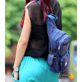 Messenger sling bag blue for ladies