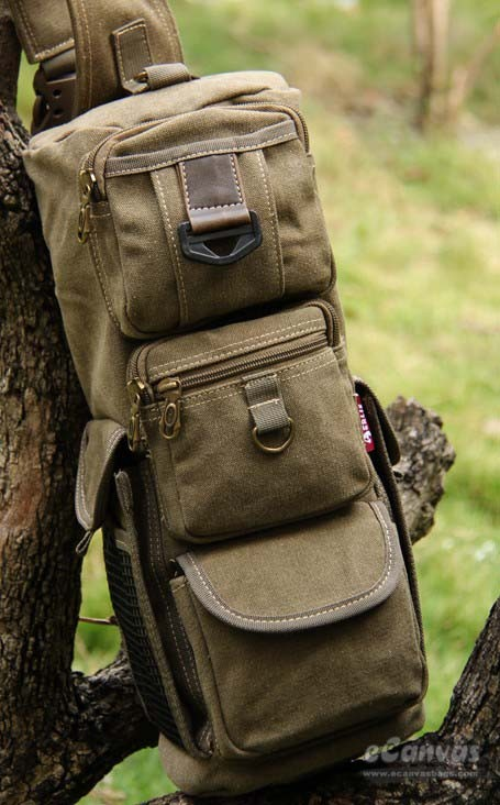 a4d65df047 One strap sling backpack khaki ...