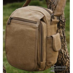 Classic messenger bag small for mens KHAKI