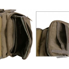 CANVAS Classic messenger bag small KHAKI
