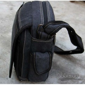 messenger bag small for mens BLACK