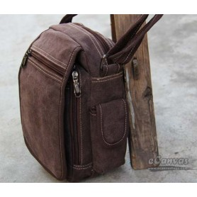 Classic messenger bag small for mens BROWN