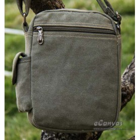 Classic messenger bag small for mens ARMY GREEN