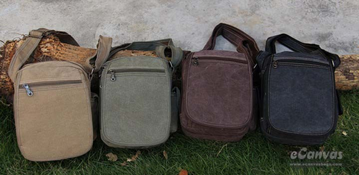 Classic messenger bag small for mens 4 colors - E-CanvasBags