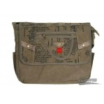 Distressed quick access messenger black, army green, khaki