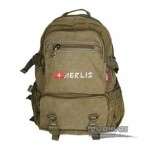 Distressed mens multi pocket back pack black, army green, khaki