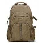 Recycled high-capacity travel pack black, army green, khaki