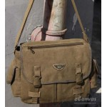 Army of retro casual canvas shoulder bag messenger bag khaki, army green, black