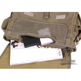 Military army style canvas shoulder messenger CASE
