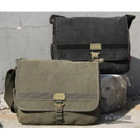 Military army style canvas shoulder messenger bag khak army green