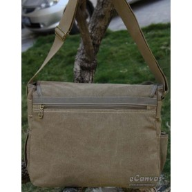 canvas shoulder messenger bag army green