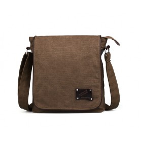 Canvas messenger bag coffee bag for men