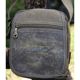 Canvas messenger bag shoulder khaki, army green, black
