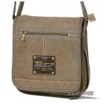Flight messenger bag khaki, army green, black