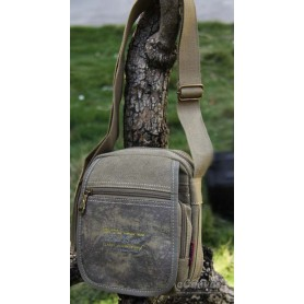 canvas messenger bag shoulder army green