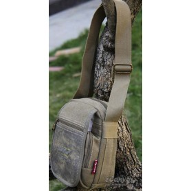 Men canvas messenger bag army green