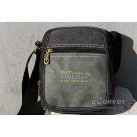 canvas Men canvas messenger bag black