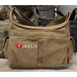 Utility messenger bag khaki, army green, black