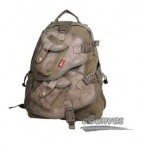 Vintage military laptop backpack khak