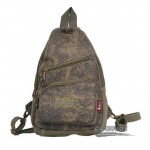Canvas satchel, convertible sling backpack khaki, army green, black