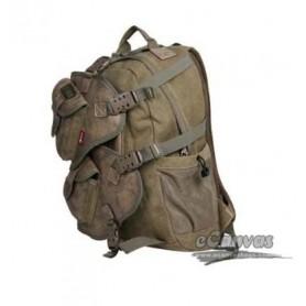 Vintage military laptop backpack khaki for mens