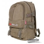 Canvas campus laptop backpack khaki