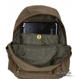 Travel military computer daypack khaki for students