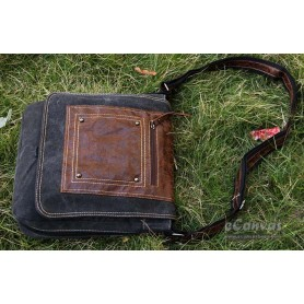 Canvas city light bag black