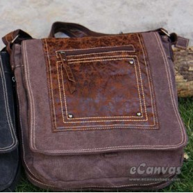 Canvas city light bag brown