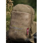 Messenger sling bag for mens  khaki