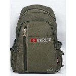 Distressed mens backpack purse army green