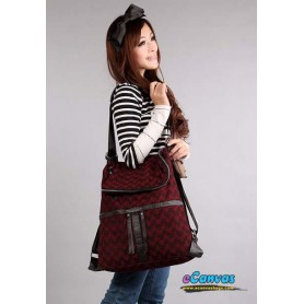 multi purpose bag backpack red