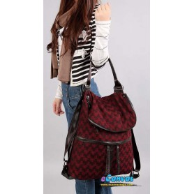 bag backpack red