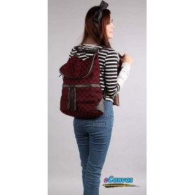 Woollen backpack red