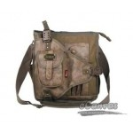 Distressed messenger for mens khaki, army green, black