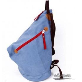 canvas Best rucksack, cheap backpack knapsack blue