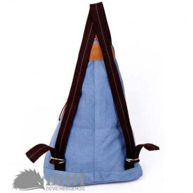 canvas cheap backpack knapsack blue