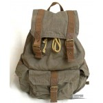 Personalized travel bag rucksack army green