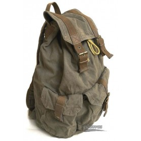 canvas travel bag rucksack army green
