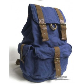 Personalized travel bag rucksack blue