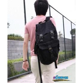 Personalized travel bag rucksack for mens black