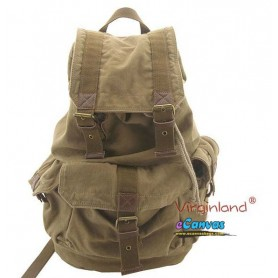 Personalized travel bag rucksack for mens khaki