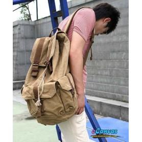 travel bag rucksack for mens khaki