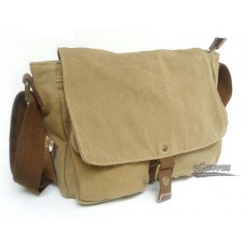 Canvas messenger bag, mens shoulder bag,khaki