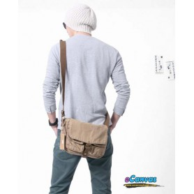 mens shoulder bag,khaki